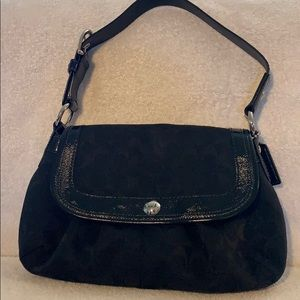 Coach Signature Black Purse/Evening Bag
